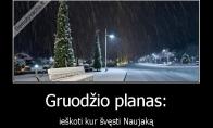 Populiariausias gruodžio planas