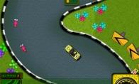 Žaidimas: kempiniukas su automobiliuku