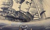 Tapyba ant nešvarių automobilių langų