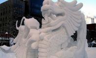 Sniego skulptūros