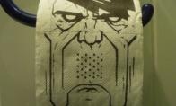 """Tualetinis popierius """"Nupiešk Hitleriui ūsus"""""""