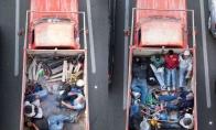 Meksikiečiai važiuoja į darbą