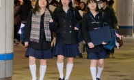 Japonų moksleivės