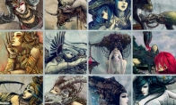 Gražūs dailininkės Yuhon zodiako ženklai