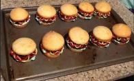 Linksmi keksai-hamburgeriai
