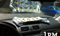 Vasarą sausainius galima iškepti automobilyje