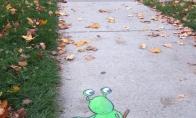 Originalūs ir šaunūs piešiniai ant asfalto