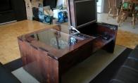 Fantastiškas savadarbis kompiuterio stalas