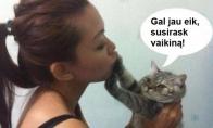 Klausykit, merginos, katinų patarimų