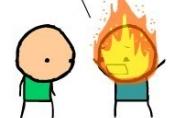 Kovotojas su ugnimi