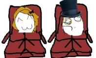 Blondinė lėktuve