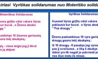 Vyriškas ir moteriškas solidarumas