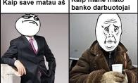 Dėl ko aš nemėgstu eiti į bankus