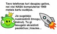 Apie telefonus ir žmones mėnulyje