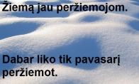 Apie peržiemotą žiemą