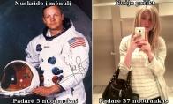 Kuo panašūs Armstrongas ir blondinė?