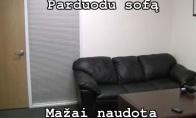 90% vyrų žino šią sofą