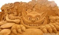Smėlio menas (19 nuotraukų)