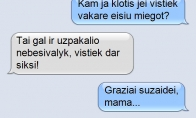 Nesiginčyk su mama. Beprasmiška.