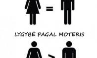 Lyčių lygybė pagal vyrus ir moteris