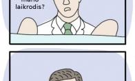 Daktaras, kuris nelaiko liežuvio už dantų