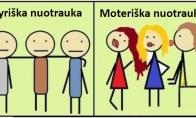 Vyrų vs moterų nuotraukos