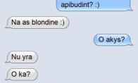 Pažintis su blondine