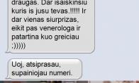 SMS nuo kuriuo vyrai gali gaut širdies smūgį