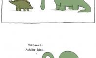 Kodėl liūdėjo dinozauras?