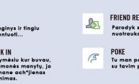 Facebook veiksmų reikšmės