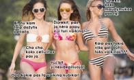 Merginų pokalbiai pliaže