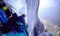 Kaip miega alpinistai, šokiruojančios foto