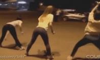 Be galo linksmų šokėjų GIF rinkinys