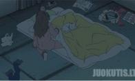 Kaip teisingai miegoti su katinu