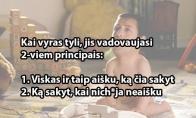 Vyriškos tylos principai