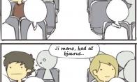 Tas nemalonus momentas autobuse
