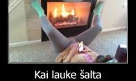 Kaip šildosi mergos?