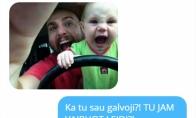 Kai vaiką prižiūri tėtis