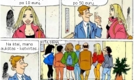 Gražios blondinės versliukas