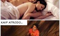 Kai mergina tavo ranką naudoja vietoj pagalvės