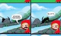 Kita pasakos apie Raudonkepuraitę pusė