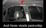 Audi fanų arsenalas