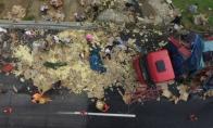 Tūkstančiai viščiukų ištrūko į laisvę po avarijos