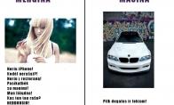 Mergina vs mašina