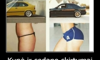 Kupė vs sedanas