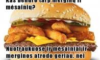 Merginų ir mėsainių panašumai