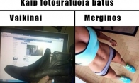 Batų fotografavimo ypatumai