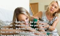 Mamų logika dukrų atžvilgiu