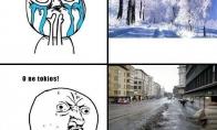 Tikra žiema būna tik kaime