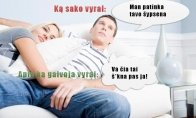 Vyrų žodžiai vs mintys